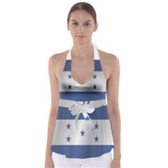 Flag Of Honduras Babydoll Tankini Top