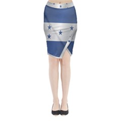 Flag Of Honduras Midi Wrap Pencil Skirt