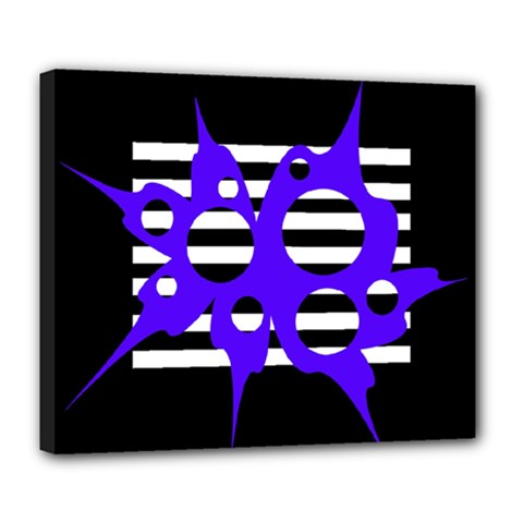 Blue abstract design Deluxe Canvas 24  x 20