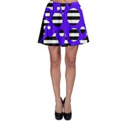 Blue abstract design Skater Skirt