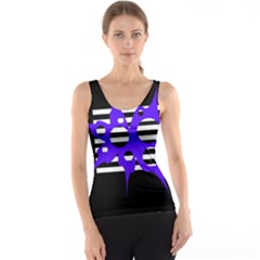 Blue abstract design Tank Top