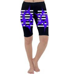 Blue abstract design Cropped Leggings