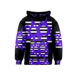 Blue abstract design Kids  Pullover Hoodie
