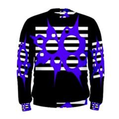Blue abstract design Men s Sweatshirt