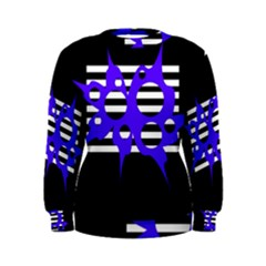 Blue abstract design Women s Sweatshirt