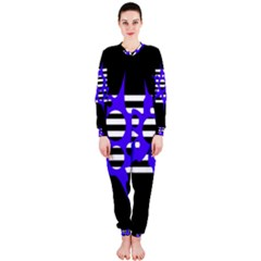 Blue abstract design OnePiece Jumpsuit (Ladies)