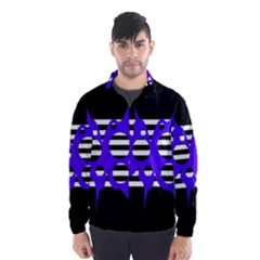 Blue abstract design Wind Breaker (Men)