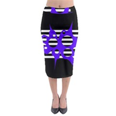 Blue abstract design Midi Pencil Skirt