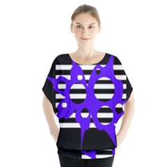 Blue abstract design Blouse