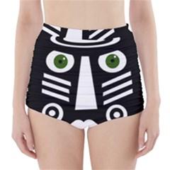 Mask High-Waisted Bikini Bottoms