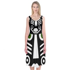 Mask Midi Sleeveless Dress