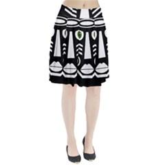 Mask Pleated Skirt