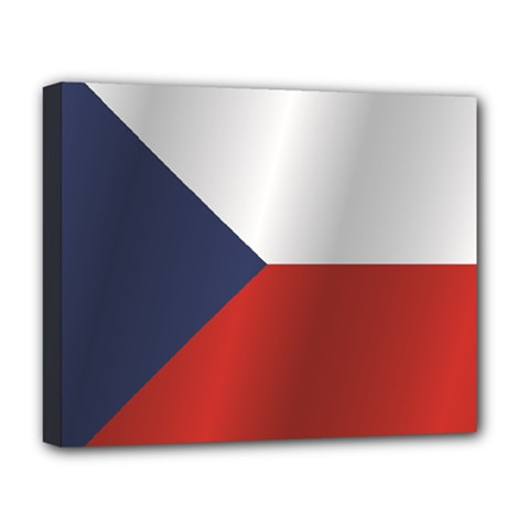 Flag Of Czech Republic Deluxe Canvas 20  x 16