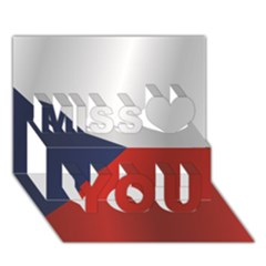 Flag Of Czech Republic Miss You 3D Greeting Card (7x5)
