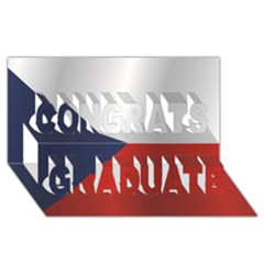 Flag Of Czech Republic Congrats Graduate 3D Greeting Card (8x4)