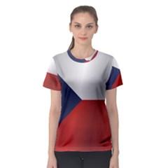 Flag Of Czech Republic Women s Sport Mesh Tee