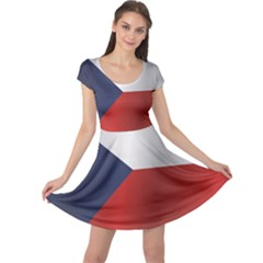 Flag Of Czech Republic Cap Sleeve Dresses