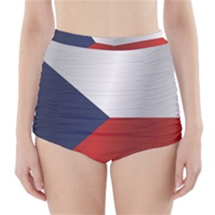 Flag Of Czech Republic High-Waisted Bikini Bottoms