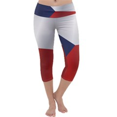 Flag Of Czech Republic Capri Yoga Leggings