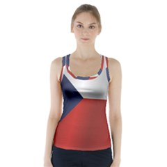 Flag Of Czech Republic Racer Back Sports Top