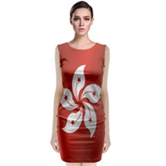 Flag Of Hong Kong Classic Sleeveless Midi Dress