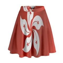 Flag Of Hong Kong High Waist Skirt