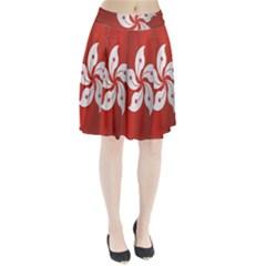 Flag Of Hong Kong Pleated Skirt