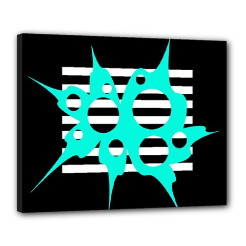 Cyan abstract design Canvas 20  x 16