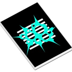 Cyan abstract design Large Memo Pads