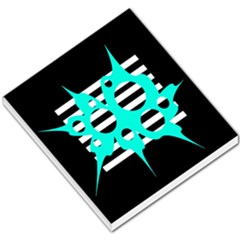 Cyan abstract design Small Memo Pads