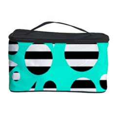Cyan abstract design Cosmetic Storage Case