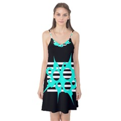 Cyan abstract design Camis Nightgown