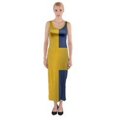 Flag Of Sweden Fitted Maxi Dress
