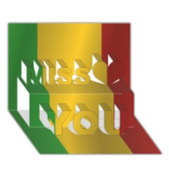 Flag Of Mali Miss You 3D Greeting Card (7x5)