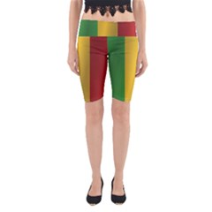 Flag Of Mali Yoga Cropped Leggings