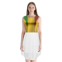 Flag Of Mali Sleeveless Chiffon Dress