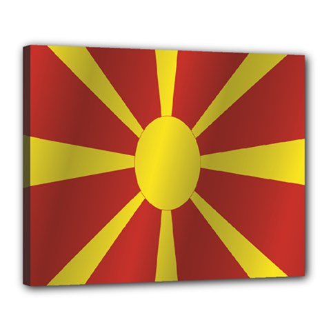 Flag Of Macedonia Canvas 20  x 16