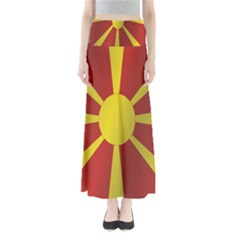 Flag Of Macedonia Maxi Skirts