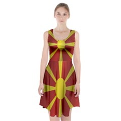 Flag Of Macedonia Racerback Midi Dress