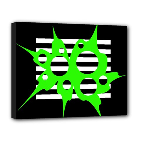 Green abstract design Deluxe Canvas 20  x 16