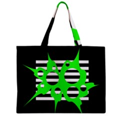 Green abstract design Zipper Mini Tote Bag