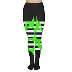 Green abstract design Women s Tights