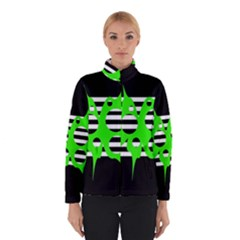 Green abstract design Winterwear