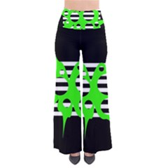 Green abstract design Pants