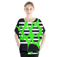 Green abstract design Blouse
