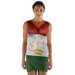 Flag Of Tajikistan Wrap Front Bodycon Dress
