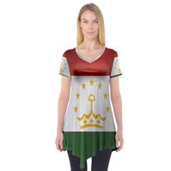Flag Of Tajikistan Short Sleeve Tunic