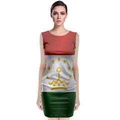 Flag Of Tajikistan Classic Sleeveless Midi Dress