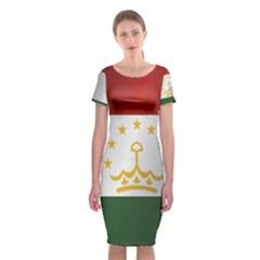 Flag Of Tajikistan Classic Short Sleeve Midi Dress