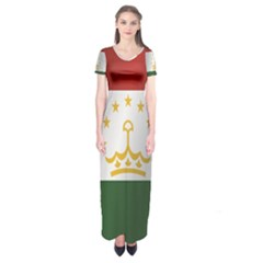 Flag Of Tajikistan Short Sleeve Maxi Dress